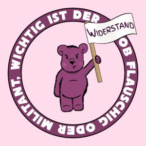 Lila Widerstandsbärchen